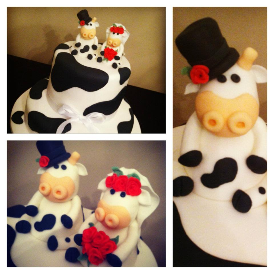 Cow Themed Wedding Cake 3
