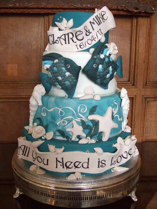 Nautical Themed Wedding Cake 1