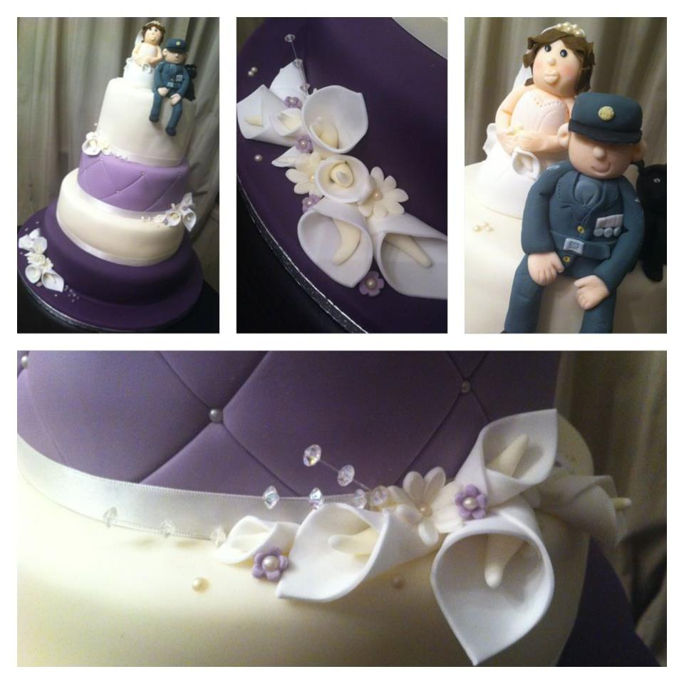 Purple And Ivy Themed Wedding Cake