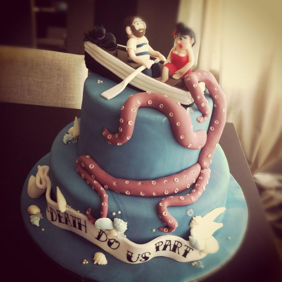 Underwater Themed Wedding Cake 2