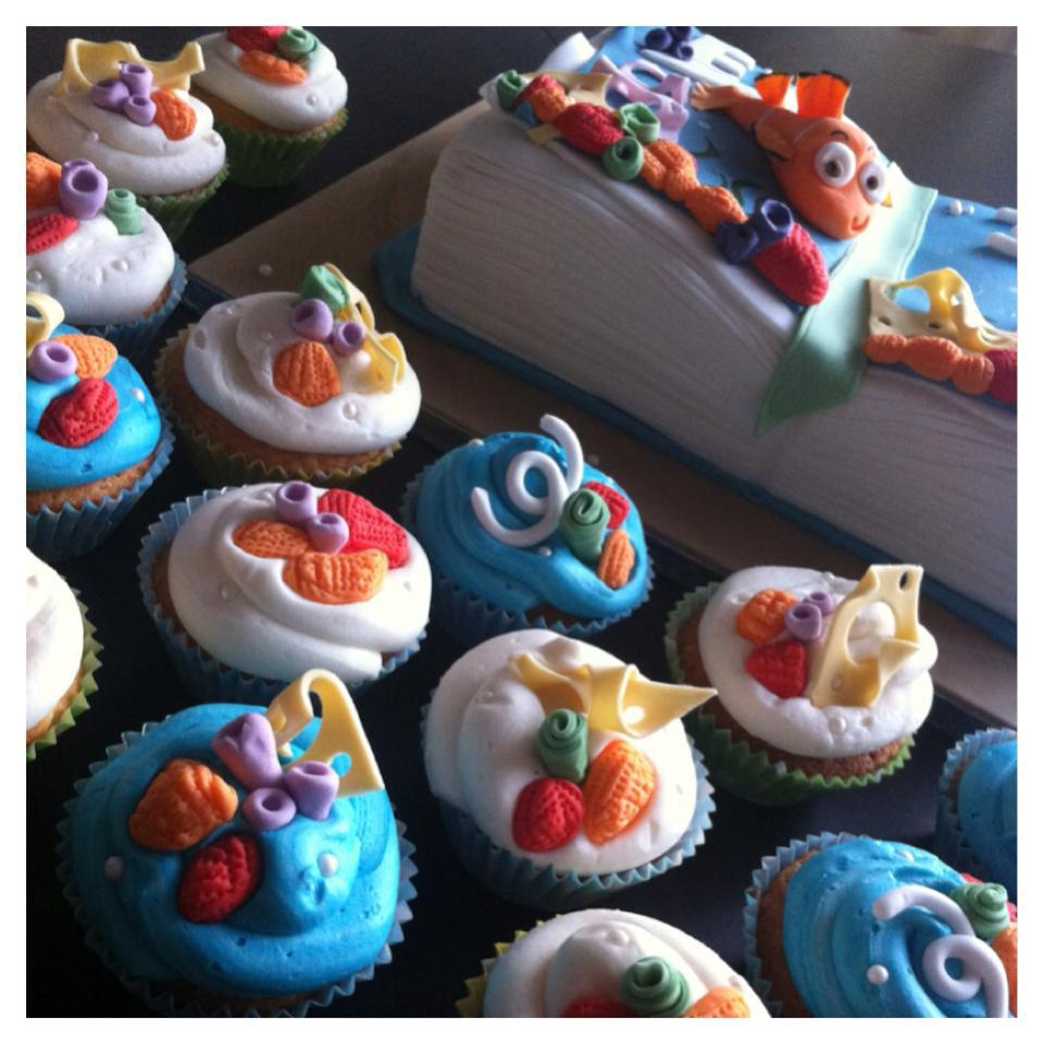 Finding Nemo Book Cake And Cup Cakes 3