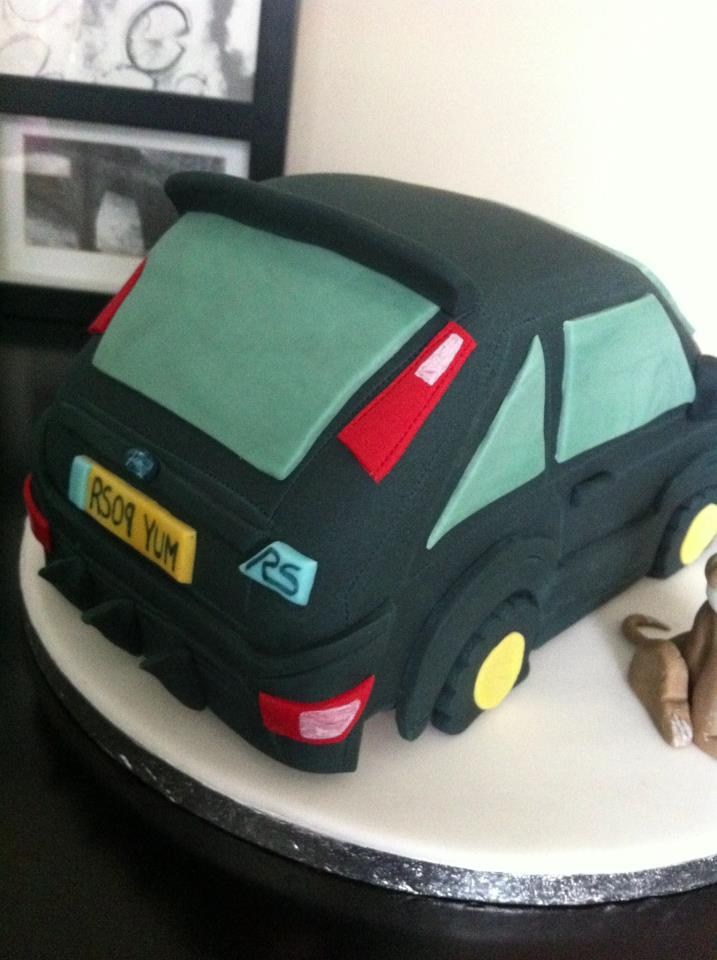 Green Ford Focus Cake 2