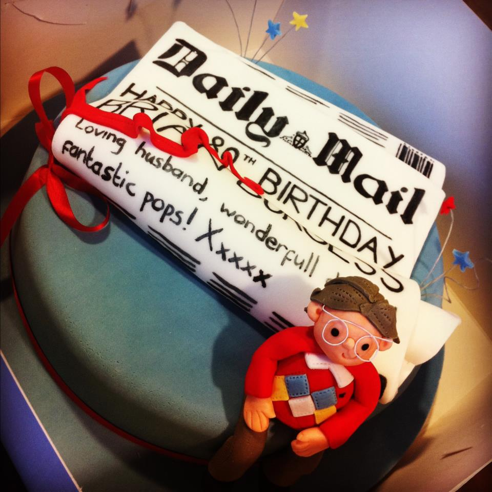 Daily Mail Themed Cake