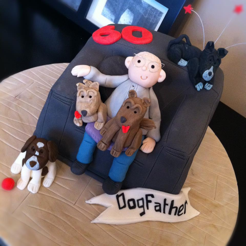 Dog Father Chair Cake