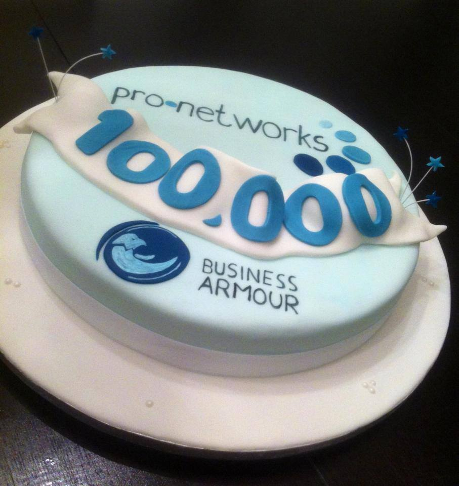 Pro Networks Business Armour Cake