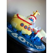 YELLOW SUBMARINE CAKE LICKY LIPS CAKES LIVERPOOL BEATLES CAKE
