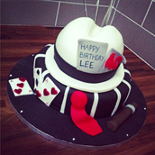 1920's Gangster Cake. Licky Lips Cakes liverpool