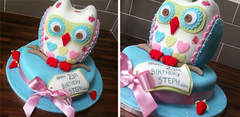 Cath Kidson Cake Owl Cake Licky Lips Cakes Liverpool