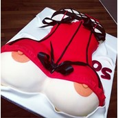Boobs And Corset Cake Licky Lips Cakes Liverpool