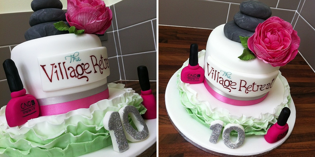 Corporate Cake Beauty Shellac Frills Licky Lips Cakes Liverpool