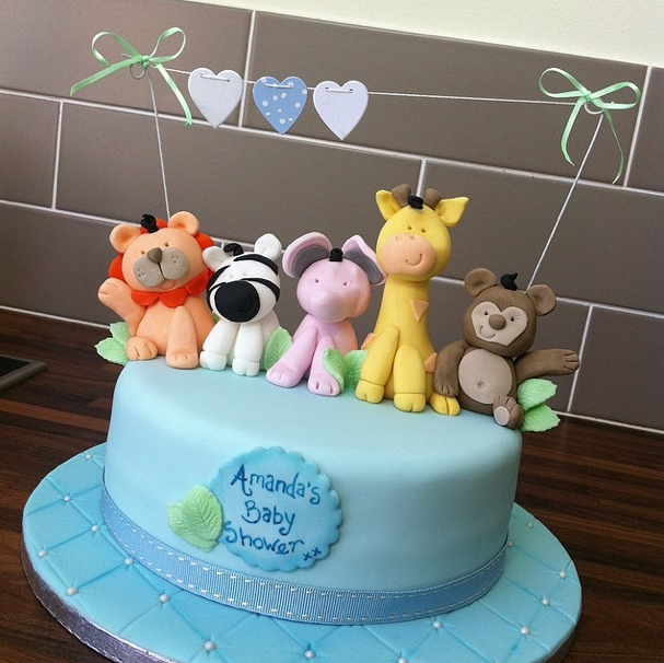 Baby Shower Animal Cake Licky Lips Cakes Liverpool