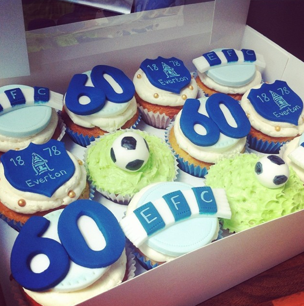 Everton Football Cupcakes Licky Lips Cakes Liverpool