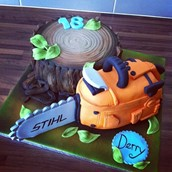 Chainsaw Cake Licky Lips Cakes Liverpool