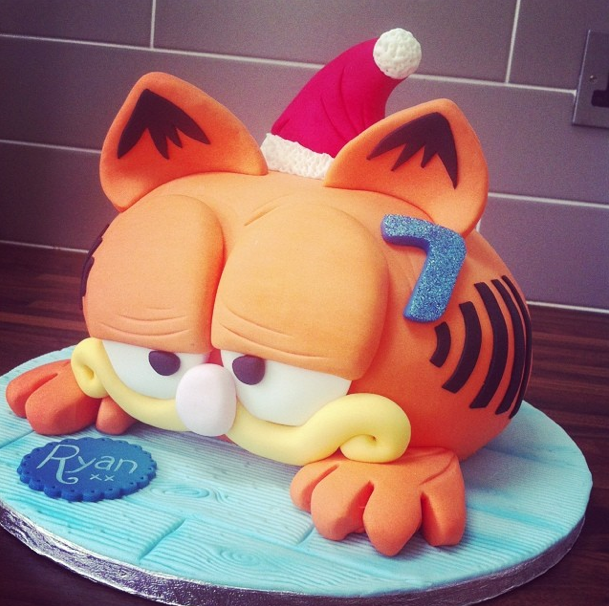 Garfield Cake Licky Lips Cakes Liverpool
