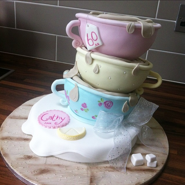 Teacup Vintage Cake 2 Licky Lips Cakes Liverpool