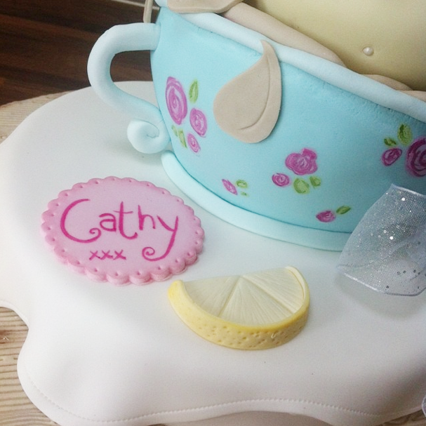 Teacup Vintage Cake 3 Licky Lips Cakes Liverpool