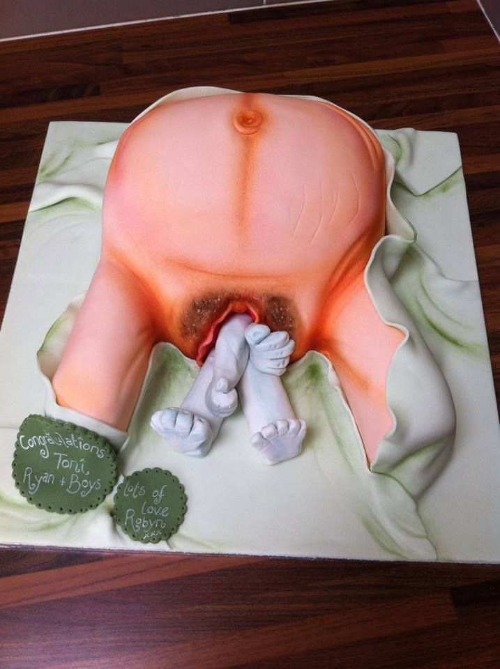 Graphic Vagina Cake Giving Birth Cake Babyshower Cake Licky Lips Cakes Liverpool 2