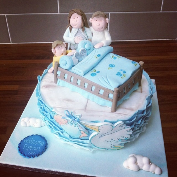 Baby Shower Stork Cake Licky Lips Cakes Liverpool