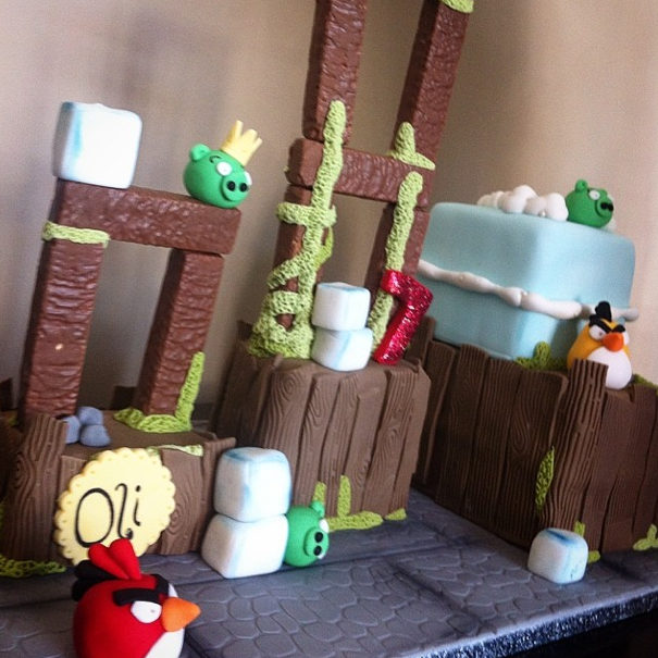 Angry birds cake - Licky lips cakes liverpool