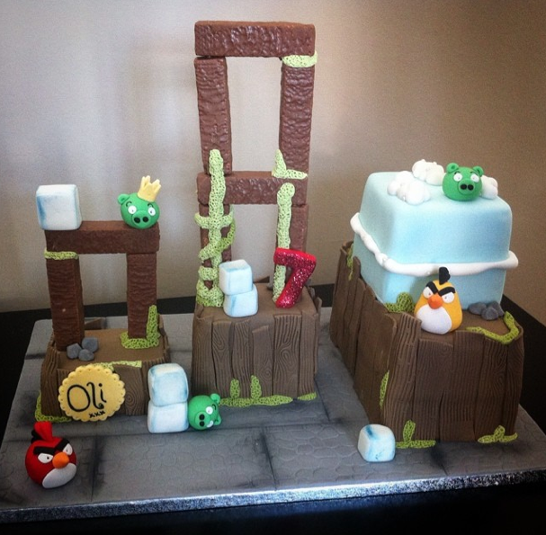 Angry birds cake 2 - Licky lips cakes liverpool