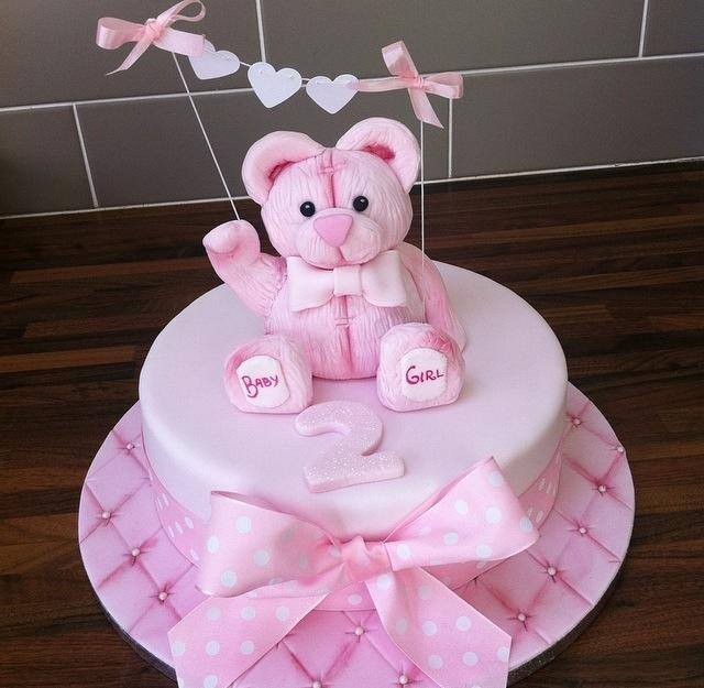 teddy bear cake - licky lips cakes liverpool