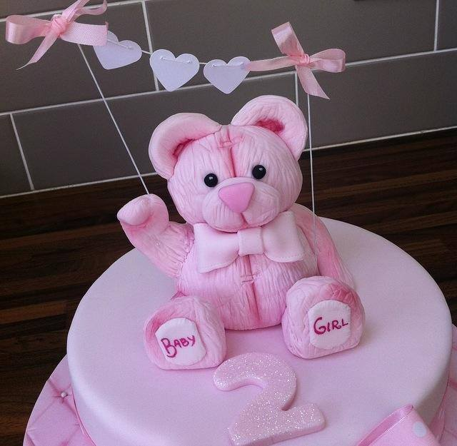 teddy bear cake  - licky lips cakes liverpool 2