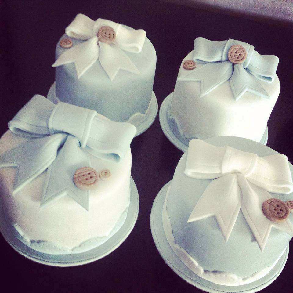 Bunting cake with mini cakes christening Favourite memories christening cake  - licky lips cakes liverpool 2