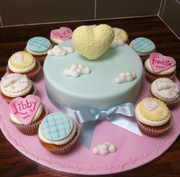 Heart And Clouds Cake 3 Licky Lips Cakes Liverpool