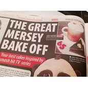 Liverpool Echo Great British Bake Off Feature Licky Lips Cakes