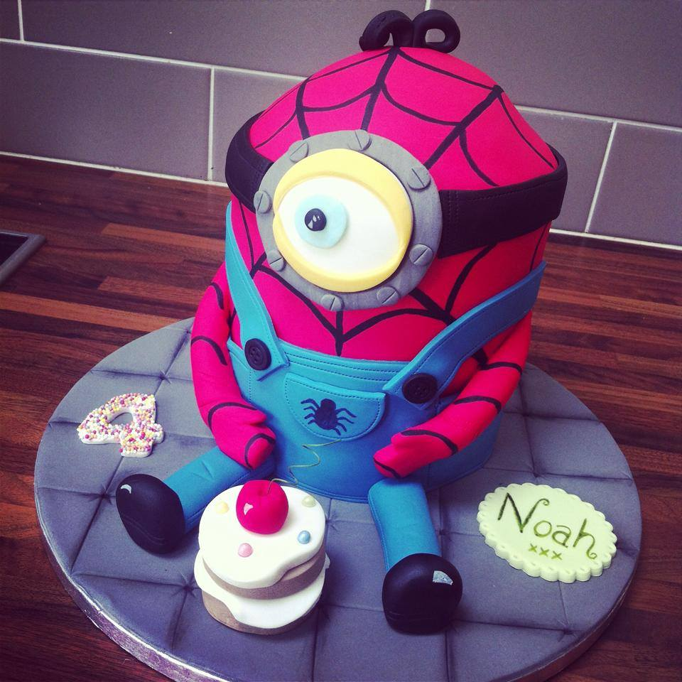 Spiderman Minion Cake Licky Lips Cakes Liverpool