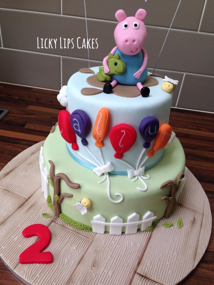 Peppa Pig George Cake 2 Licky Lips Cakes Liverpool