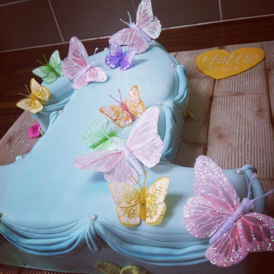 Butterfly Number One Cake Licky Lips Cakes Liverpool