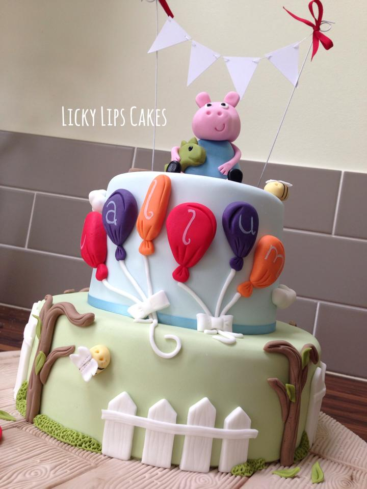 Peppa Pig George Cake Licky Lips Cakes Liverpool