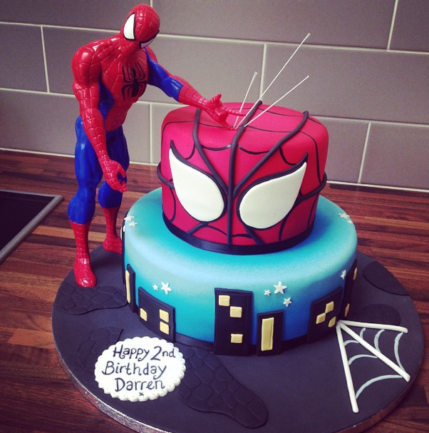 Spiderman Cake Licky Lips Cakes Liverpool