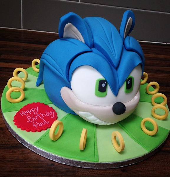 Sonic Hedgehog Cake Licky Lips Cakes Liverpool