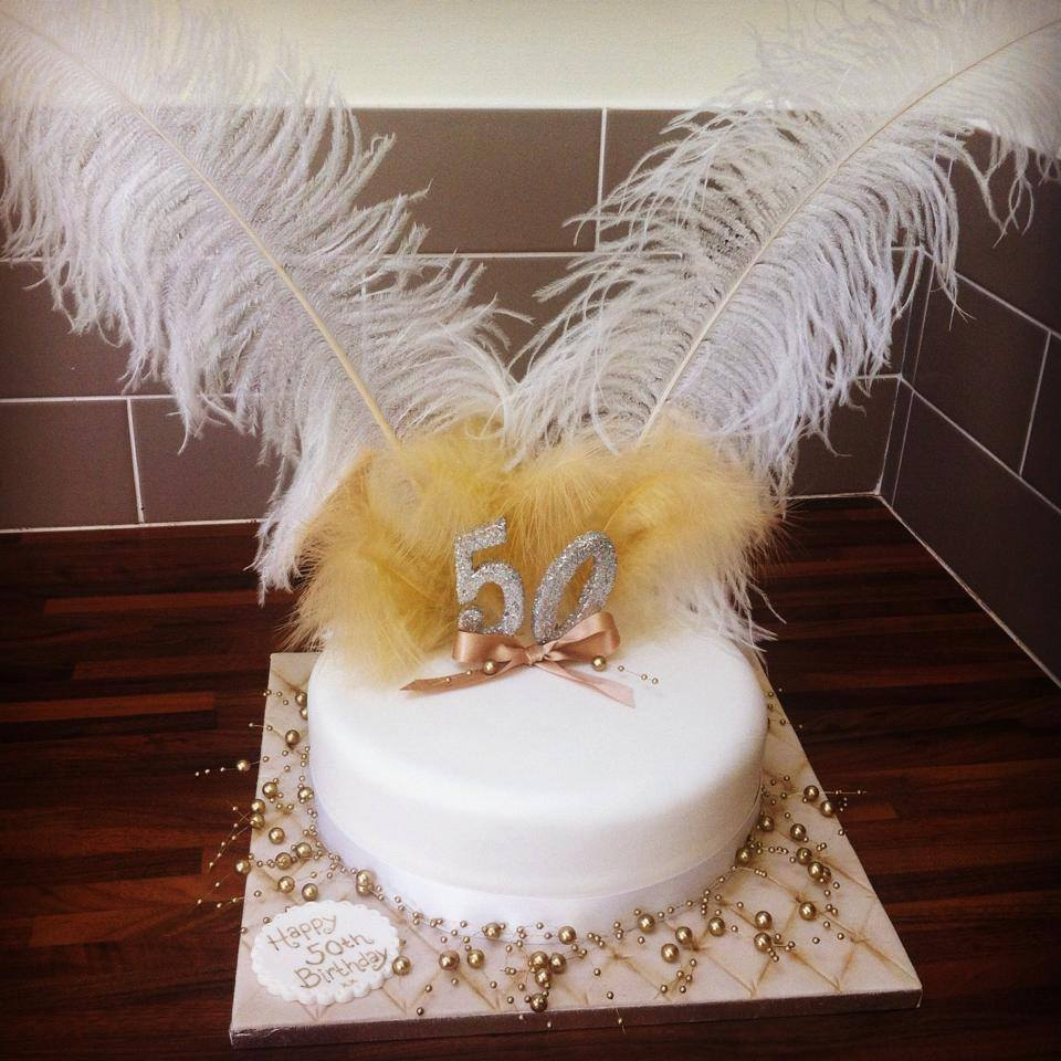5Oth Gold Birthday Cake Licky Lips Cakes Liverpool