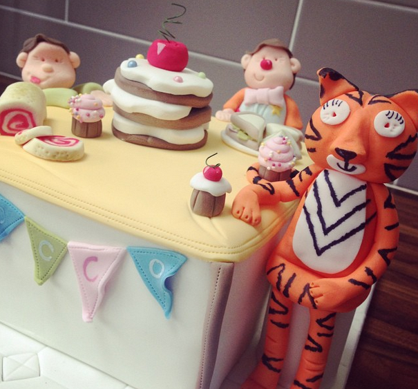 Licky Lips Cakes Liverpool Childrens Cake The Tiger That Came For Tea Cake