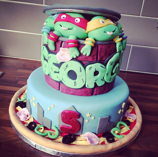 Licky Lips Cakes Liverpool Childrens Cake Tmnt Cake