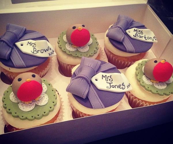 Licky Lips Cakes Liverpool Cupcakes Christmas Robins