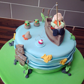 Licky Lips Cakes Liverpool Men Fishing Cake
