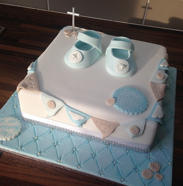 Licky Lips Cakes Liverpool Religious Christening Booties